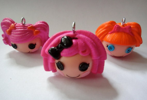 Set of 3 Super Cute Lalaloopsy Charm Pendants- Sugar Crumbs Cookie