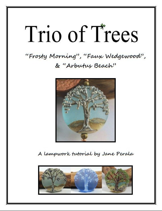 TUTORIAL - Trio of Trees, Lampwork Glass Bead Tutorial