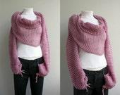 Pink Bolero Scarf Shawl Neckwarmer Christmas gift For Women For Girl Friend