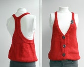 Free Shipping Red Vest Sweater Valentines Day Gift