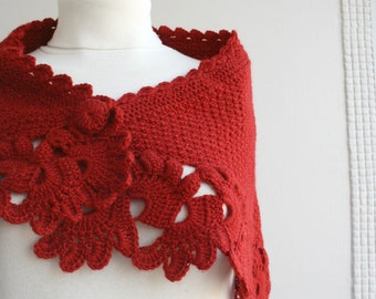 Dark Red  Capelet Shawl Gift under75 Mothers day gift for Mom