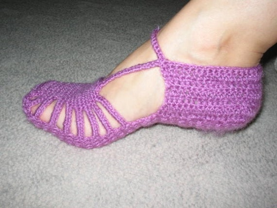 FREE SHIPPING Purple Slippers