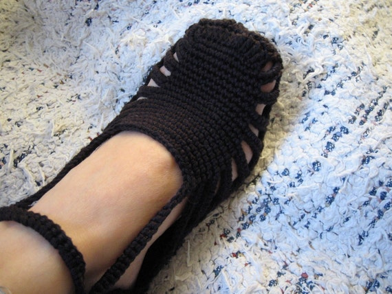 Free Shipping Black SLIPPERS  COTTON ecofriendly christmasinjuly