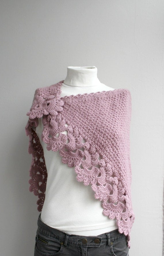 Pink Capelet Shawl Christmas  Gift under75
