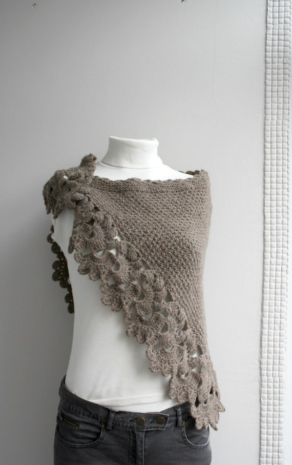 Brown Capelet Shawl Gift under 75 Mothers Day Gift