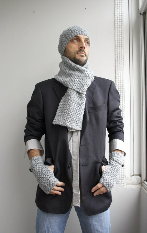 Handknit Wool Scarf For Men For My DAD perfect Gift Fathers Day Gift  Best Wool Scarves For Men