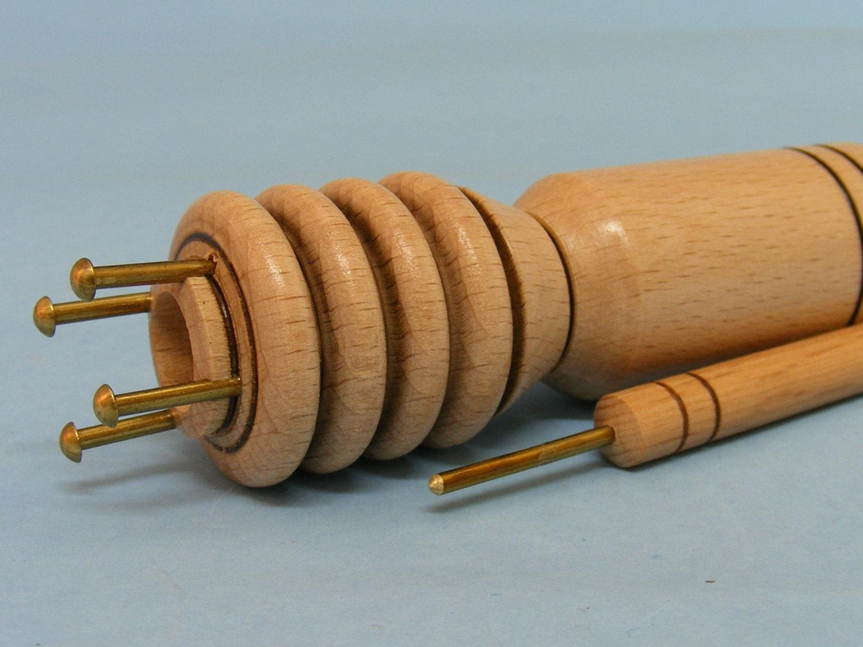 French Knitting Spool : Wood knitting spool nancy french knitter