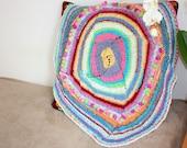 knit baby blanket, newborn photo props, baby blanket, pinwheel blanket, boho blanket, small blanket