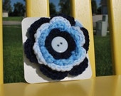 Shades of Blue Large Crocheted Flower