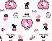 Hello Kitty Poodles and Bows Pink-Cotton Jersey-1 Yard Total