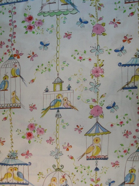 Dena Designs Love Birds in Ivory from Leanika Collection, 1 yard