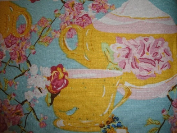 Private Listing Only Please for Siverwood2-Full Bloom by Bari J. Ackerman - Tea Party in Blue- 2 Yards Total