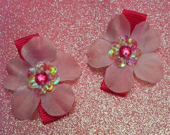 Mini Flower Hair Clips