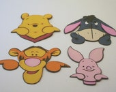 Winnie The Pooh And Friends Paper Piecings, Scrapbook Embelishments, Paper Crafts