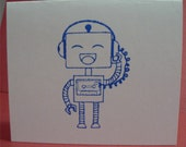 Blue Robot Lunch Box Note Cards