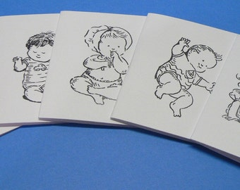 Baby Lunch Box Note Cards