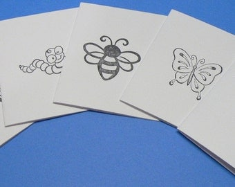 Insect Lunch Box Note Cards