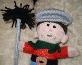 PRICE REDUCED....... HAND KNITTED CHIMNEY SWEEP DOLL....