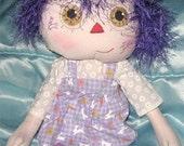 JKW - Lavender BUNNY Beauty Mark Doll