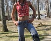 SaLE was 50 now 40 Denim Ninja Wide Leg Flare bell bottom upcycled pants