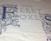 Men's Fleet Foxes Shirt on Medium Tan T Shirt