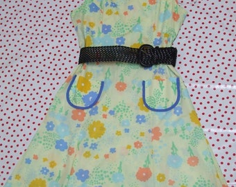 Vintage Silly Flowers House Dress