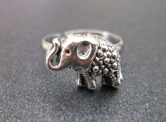 Free Shipping Elephant Lover Ring (adjustable)