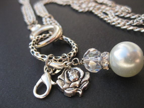 Comes with FREE charm- Silver Charm Necklace