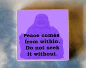 BUDDHA adjustable RING - Peace comes from within