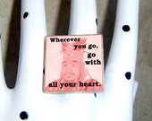 Confucius Ring - Go with all your heart