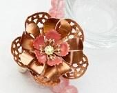 CANDYFLOSS DREAMS vintage enamel flower necklace.
