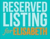 Reserved Listing for Elisabeth