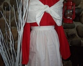 Victorian Christmas Womens Colonial Dress apron Mop Hat and Shawl Fichu All sizes Pioneer Prairie