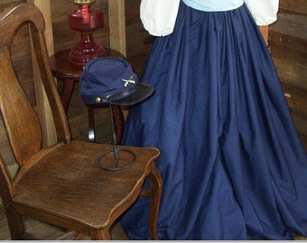 Womens Civil War, Victorian, Reenactment Skirt With Sash, One Size Fits Most Color Choices