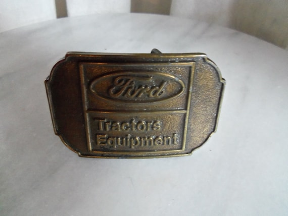 Tractor Supply Belts : Vintage ford tractors equipment belt buckle
