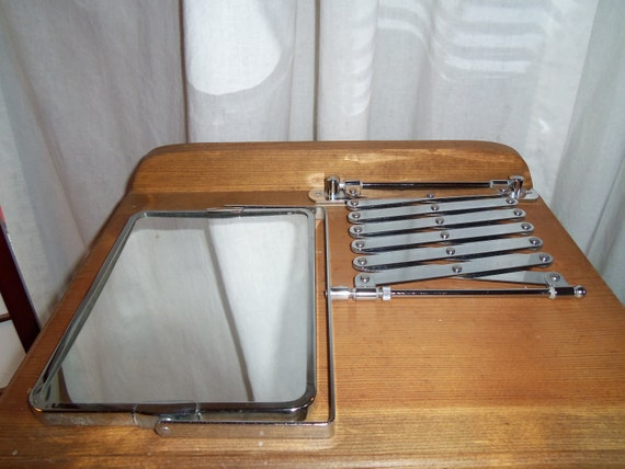 Vintage Scissor Arm Pull Out Wall Mirror