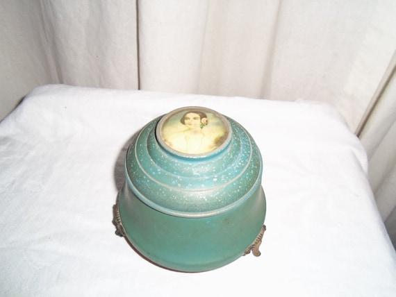 vintage powder music box
