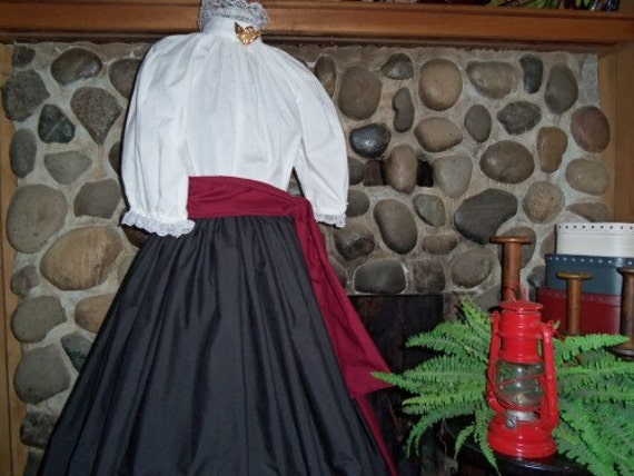 Victorian Costume Dresses & Skirts for Sale Victorian Costume Dickens Costume Pioneer Prairie Blouse skirt Civil War Ladies Costume $69.95 AT vintagedancer.com