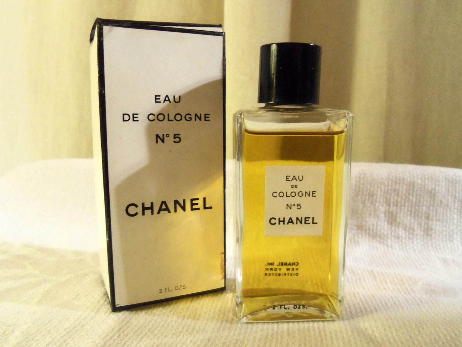 vintage chanel eau de cologne no 5 2 fl oz perfume. Black Bedroom Furniture Sets. Home Design Ideas