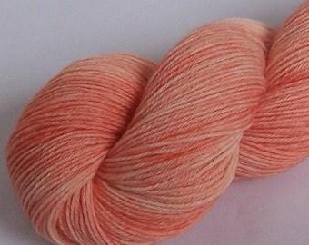Sock Yarn, Alpaca and Superwash Wool, Dreamsicle Semi Solid