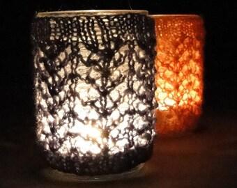 KNIT PATTERN - jar cozy for half-pint canning jar