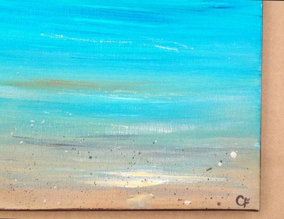 Small 8x10 acrylic painting series- 'My Little Beach'
