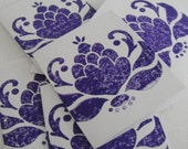 Practical Purple Ornate Blossom Cards