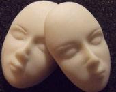 Art doll face goddess polymer clay mold