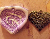 Large filigree Heart polymer clay mold