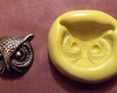 OWL'S FACE- flexible silicone mold / food/ soap/ craft/