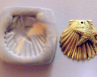Seashell polymer clay mold