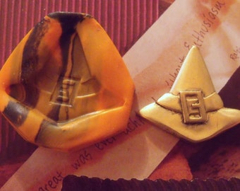 Witches hat polymer clay mold