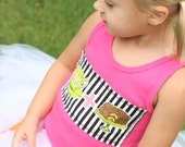 Hot Pink CUPCAKE tank top for girls  2T only