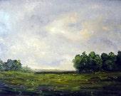 Original oil painting on panel.